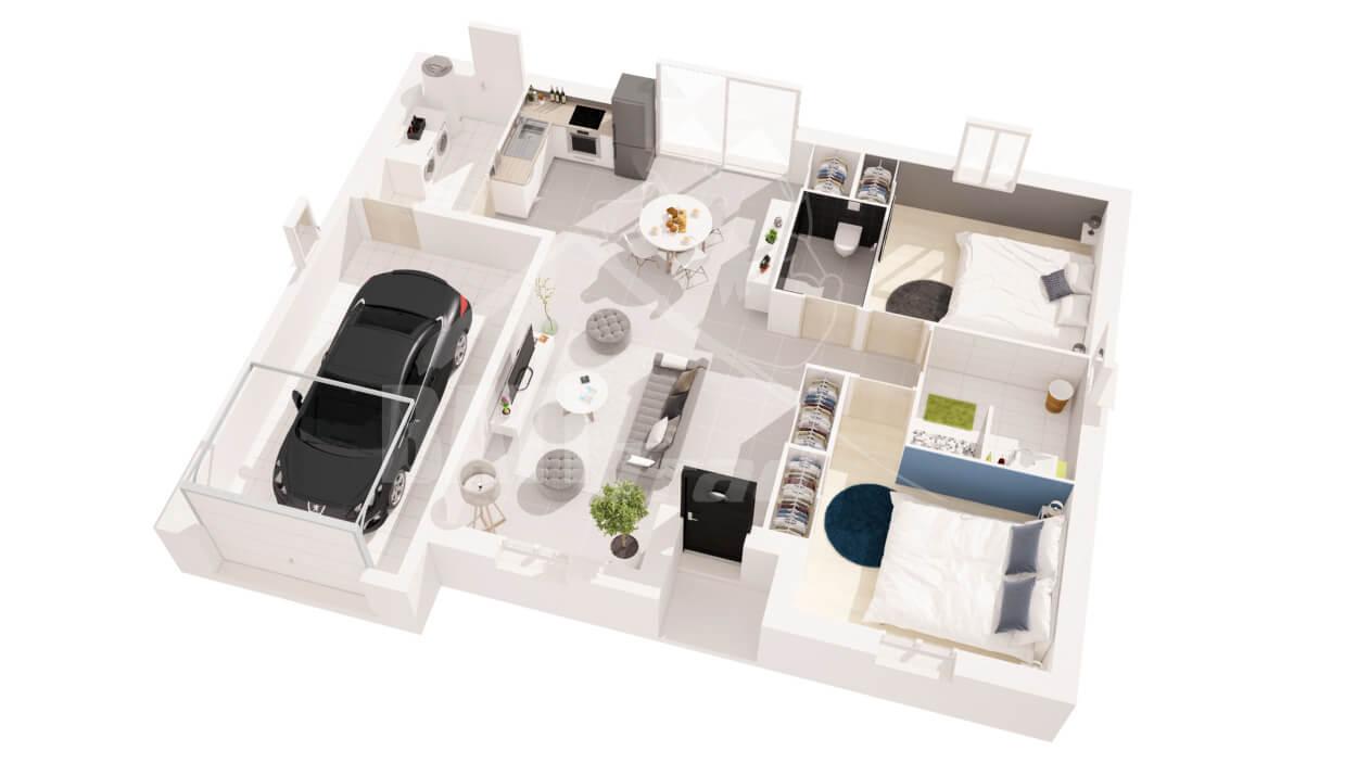 Constructeur maison chloe 2 chambres angoul me en for Plan angouleme 16