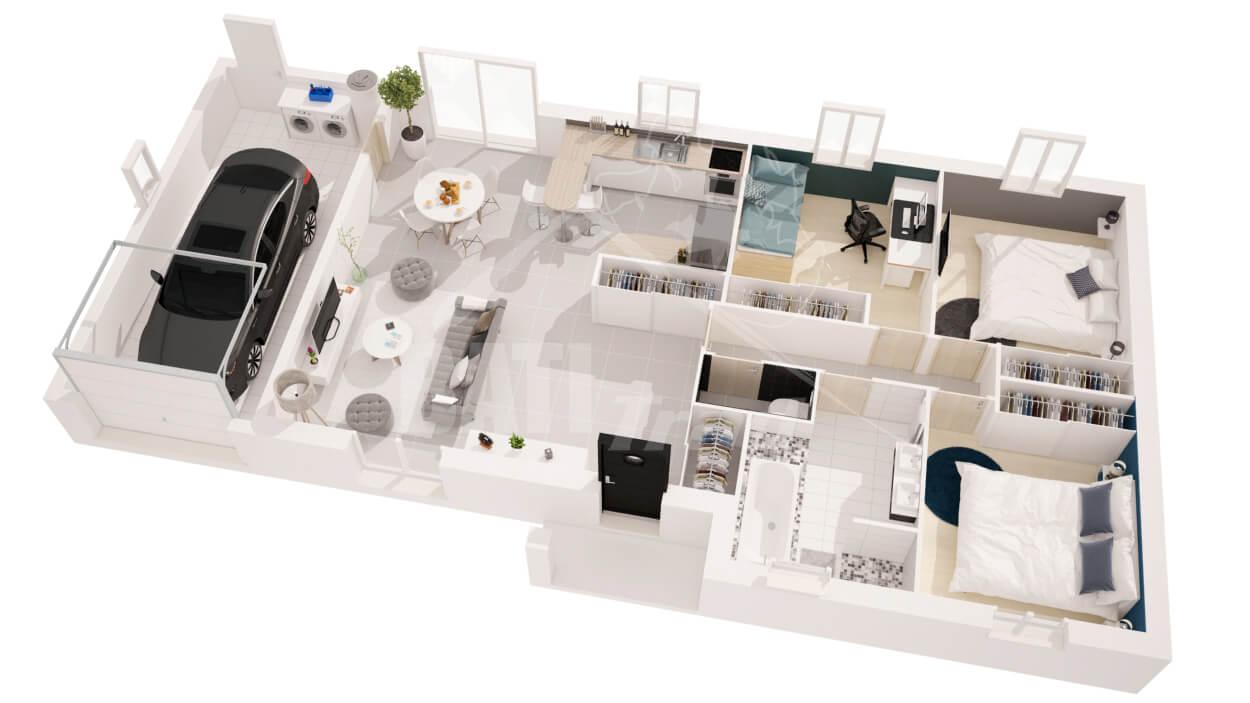 Constructeur maison chloe 3 chambres angoul me en for Plan angouleme 16