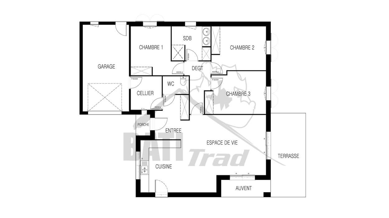 Constructeur maison lyne 3 chambres angoul me en for Plan angouleme 16
