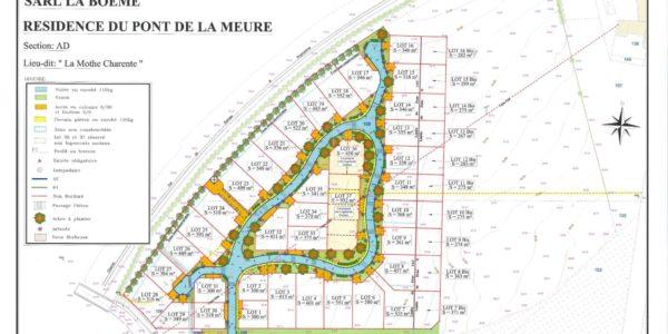 Vente terrain NERSAC (16440) – LOTISSEMENT en charente